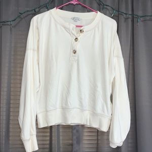 American Eagle 1/4 Button Up Sweater